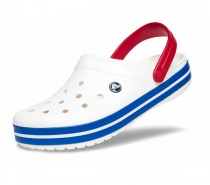 Crocs Crocband White/Blue Jean