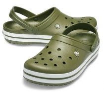 Crocs Crocband Army Green/White