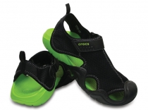 CROCS Swiftwater Sandal black/volt green