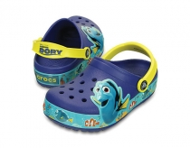 Crocs Kids CrocsLights Finding Dory™ Clog blue/lemon