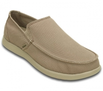 Crocs Santa Cruz Clean Cut Loafer - Khaki/Cobblestone
