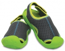 Crocs Kids Swiftwater Sandals - graphite/volt green