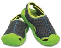 a97d7db7e60 Crocs Kids Swiftwater Sandals - graphite volt green