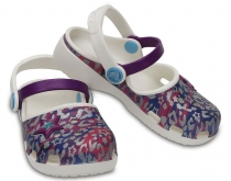 Crocs Kids Karin Novetly Clogs - Oyster / Amethyst
