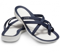Crocs Swiftwater Webbing Flip Women Navy/White