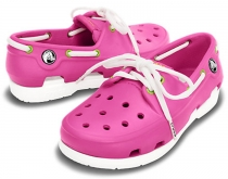 Crocs Kids Beach Lace Line boat - junior, ružové