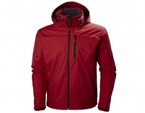 Helly Hansen Crew Hooded Midlayer Bunda Červená