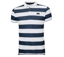 Helly Hansen MARSTRAND POLO 598 Navy Stripe tričko