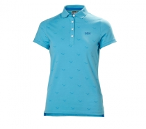 Helly Hansen W NAIAD BREEZE POLO 518 AQUA BLUE - tričko modré