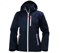 HELLY HANSEN - W CREW HOODED JACKET 597 NAVY - dámska bunda