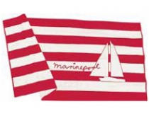 Marinepool Sail Towel white/red