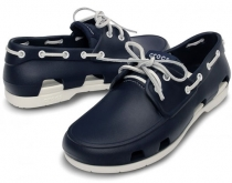 CROCS Beach Line Boat Shoe Men Navy/White