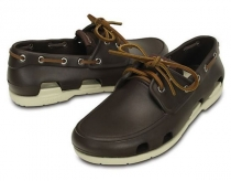 CROCS Beach Line Boat Shoe Men - espresso / stucco