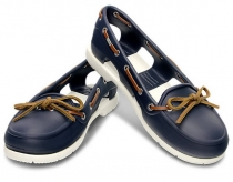 CROCS Women Beach Line Boat - navy