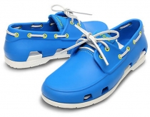 CROCS Beach Line Boat Shoe Men - ocean / white