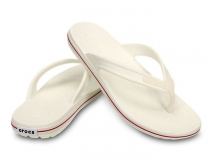CROCS Crocband LoPro Flip white / red