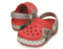 CROCS Light Robo Shark Clog - červené