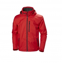 Helly Hansen - CREW HOODED JACKET 222 ALERT RED - pánska bunda