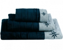 Marine Business FREE STYLE - set of 3 navy towels