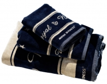 Marine Business ROYAL - set of 3 navy towels