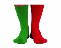 Captain's Socks - red and green