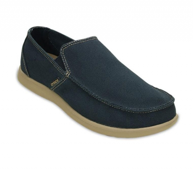 Crocs Santa Cruz Clean Cut Loafer - navy/tumbleweed