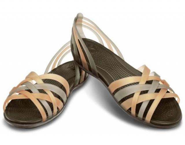 f32ee0d5691a CROCS Huarache - dámske sandále hnedé - YACHTERSHOP.sk