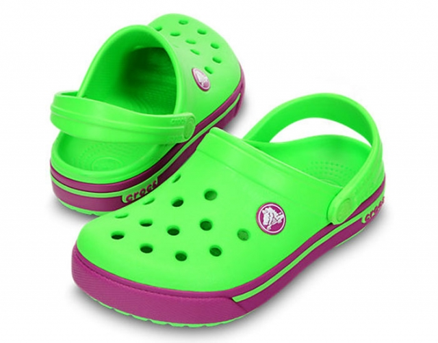 77770b83ae23 CROCS Crocband 2.5 Clog Neon green   viola - detské - YACHTERSHOP.sk